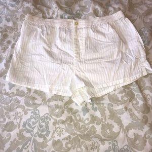 Silky Stripe Ralph Lauren PJ Boxers, Bridal White